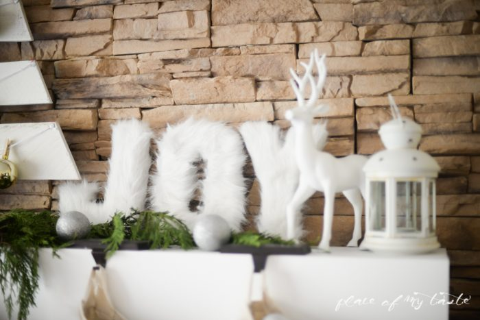 Faux Fur Letters tutorial - great for keeping decor up through Christmas and all winter long! | How to Use Winter Decorations for Christmas