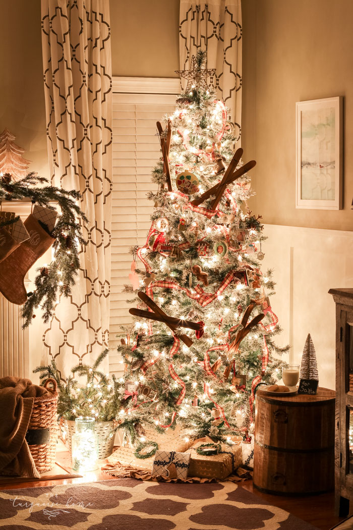 The glow from the Christmas tree sure does set the mood for cozy nights and joyful hearts.