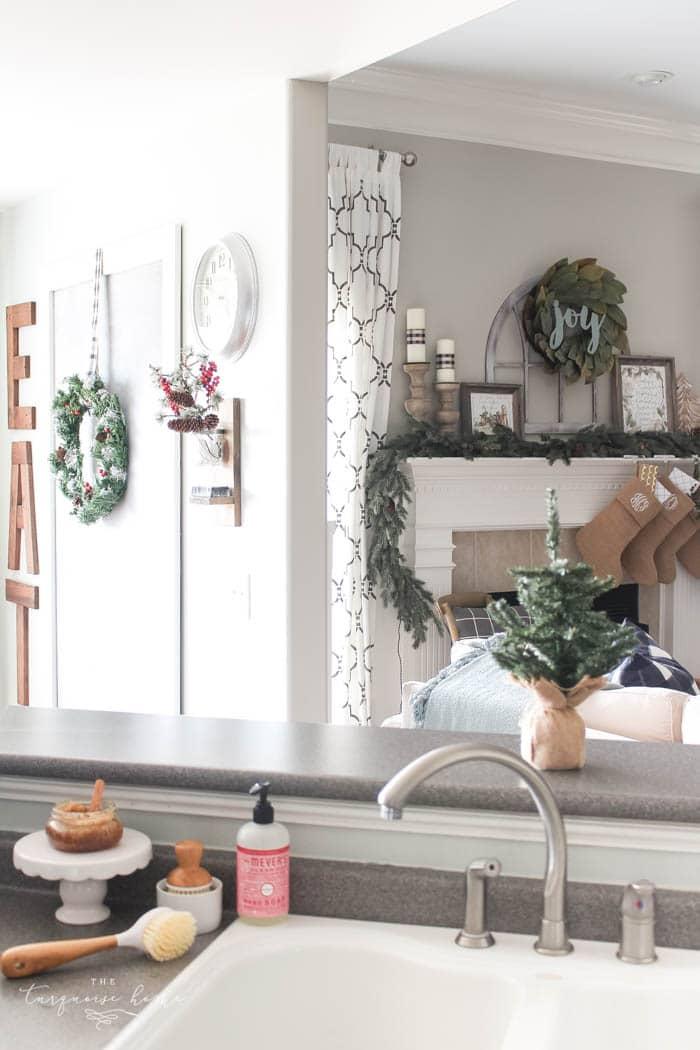 Gorgeous Kitchen Decor with DIY Christmas Kitchen Wreaths!
