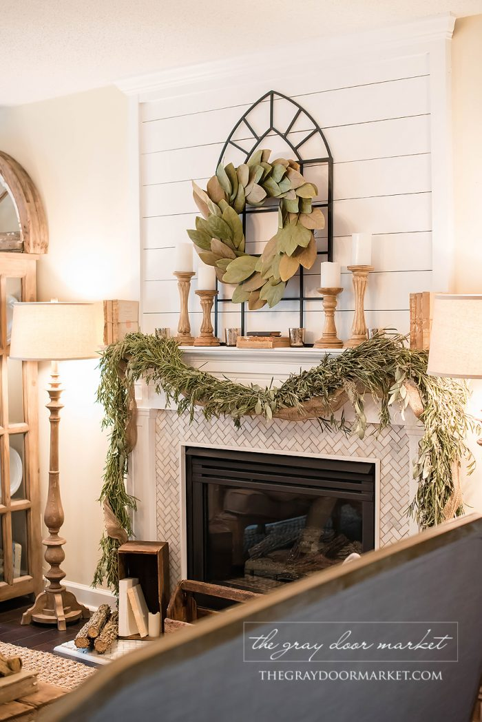magnolia wreath mantel how to use winter decorations for christmas - Magnolia Christmas Decor