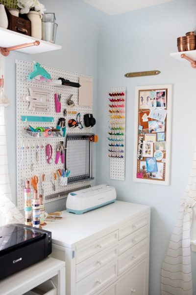 Beautiful Organized Craft Room Office by Something Turquoise