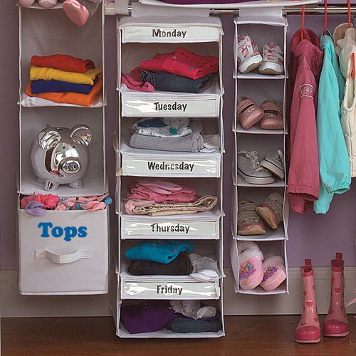 Days Of The Week Closet Organizer 30 Day To Less A Hot Mess Challenge
