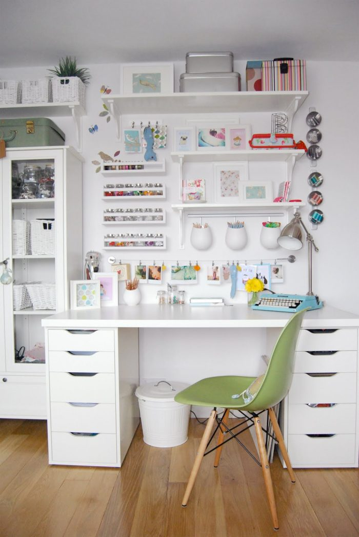 An IKEA Organized Craft Space from Rosehips and Petticoats