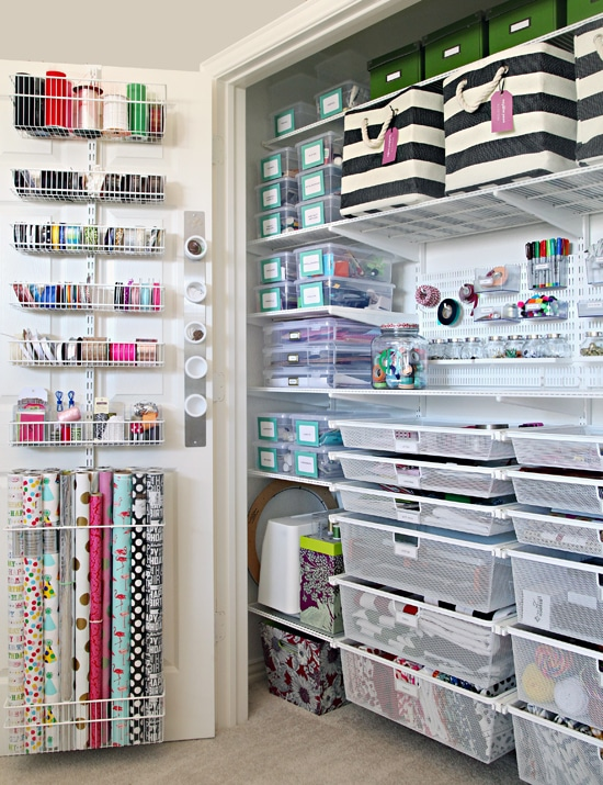 The Ultimate Craft Closet Organization by i Heart Organizing