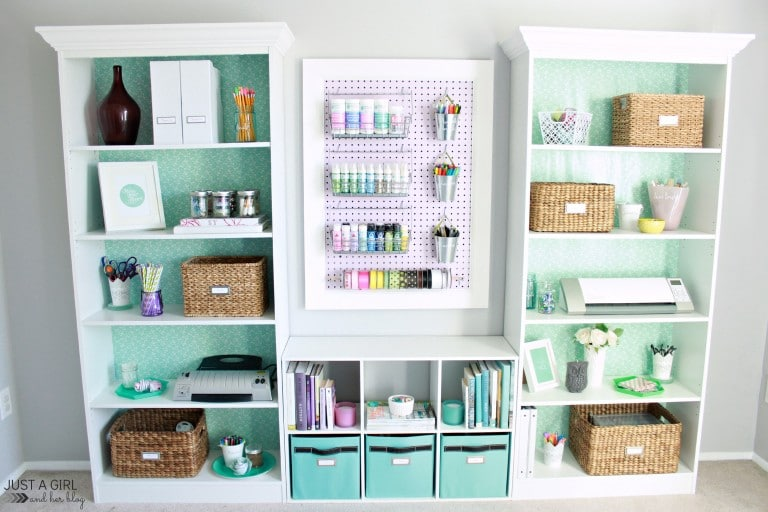 Organized Craft Space from Just A Girl And Her Blog