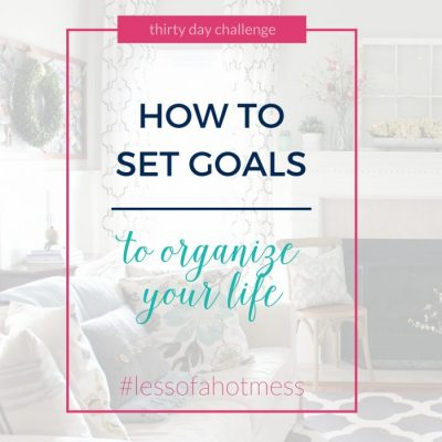 How to Set Organizational Goals | Day 2: 30 Days to Less of a Hot Mess