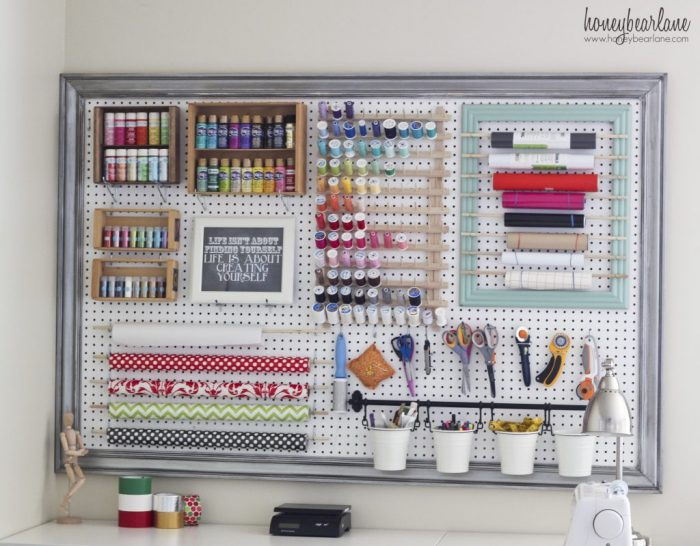 Amazing Organized Craft Pegboard by Honeybear Lane