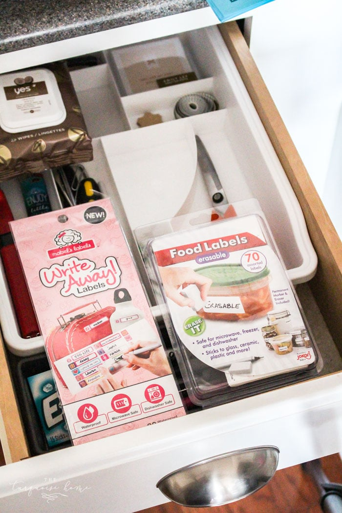 Favorite kid labels and foot storage labels!   30 Days to Less of a Hot Mess Challenge