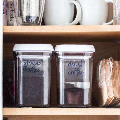 How to Create Your Own Pantry Labels | Day 19: 30 Days to Less of a Hot Mess