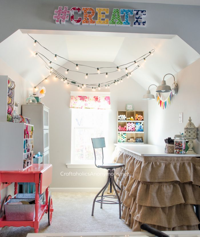 Gorgeous and Colorful Craft Space from Craftaholics Anonymous