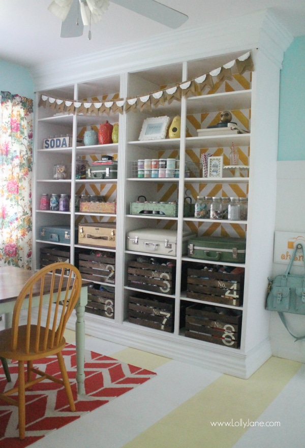 A Happy and Colorful Craft Room from Lolly Jane