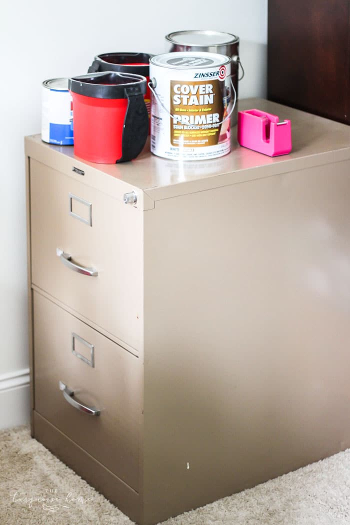 The old cabinet got to go! How to Eliminate Paper Clutter for Good! | 30 days to Less of a Hot Mess
