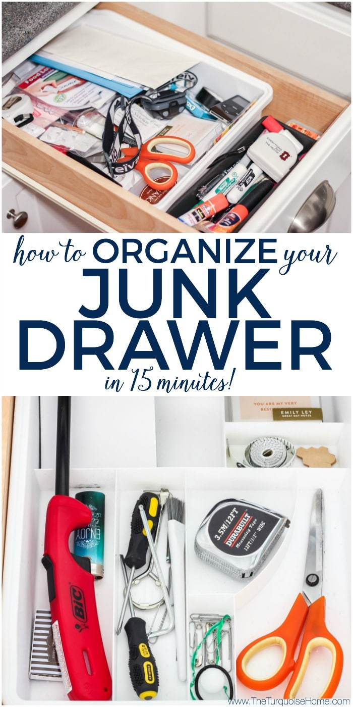 How to Organize Your Junk Drawer in 15 Minutes! | 30 Days to Less of a Hot Mess Challenge