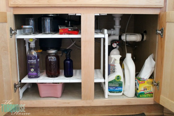 Under the cabinet kitchen storage | 30 Days to Less of a Hot Mess