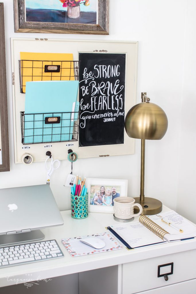 This Office Wall Organizer can help keep your office organized!