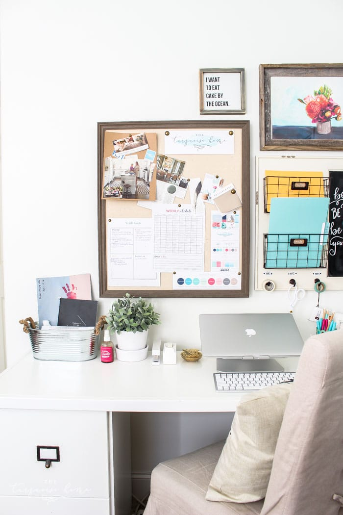 My favorite desk from Ballard Designs... Love the double use of the space as desk and storage!