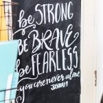 Be Strong Be Brave Be Fearless Free Printable | Word of the Year 2017