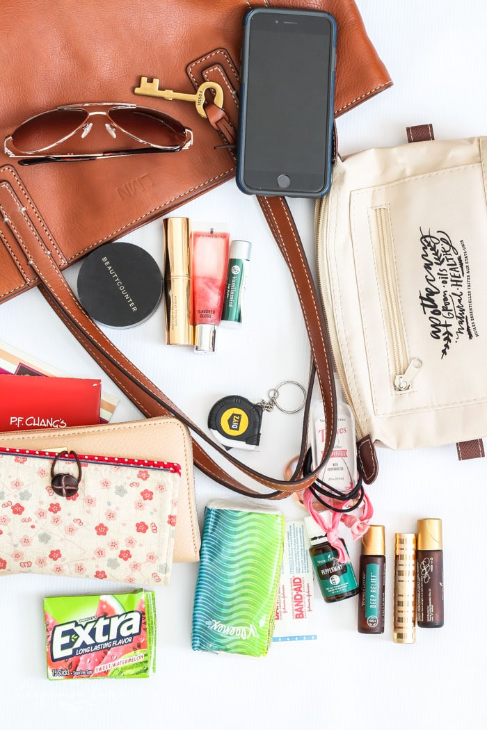 Corral like things is step 3 in purse organization 101! | 30 Days to Less of a Hot Mess