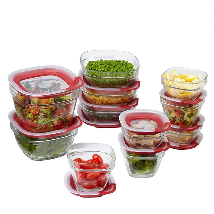 Easy Find Lids Glass Food Storage Container   30 Days to Less of a Hot Mess