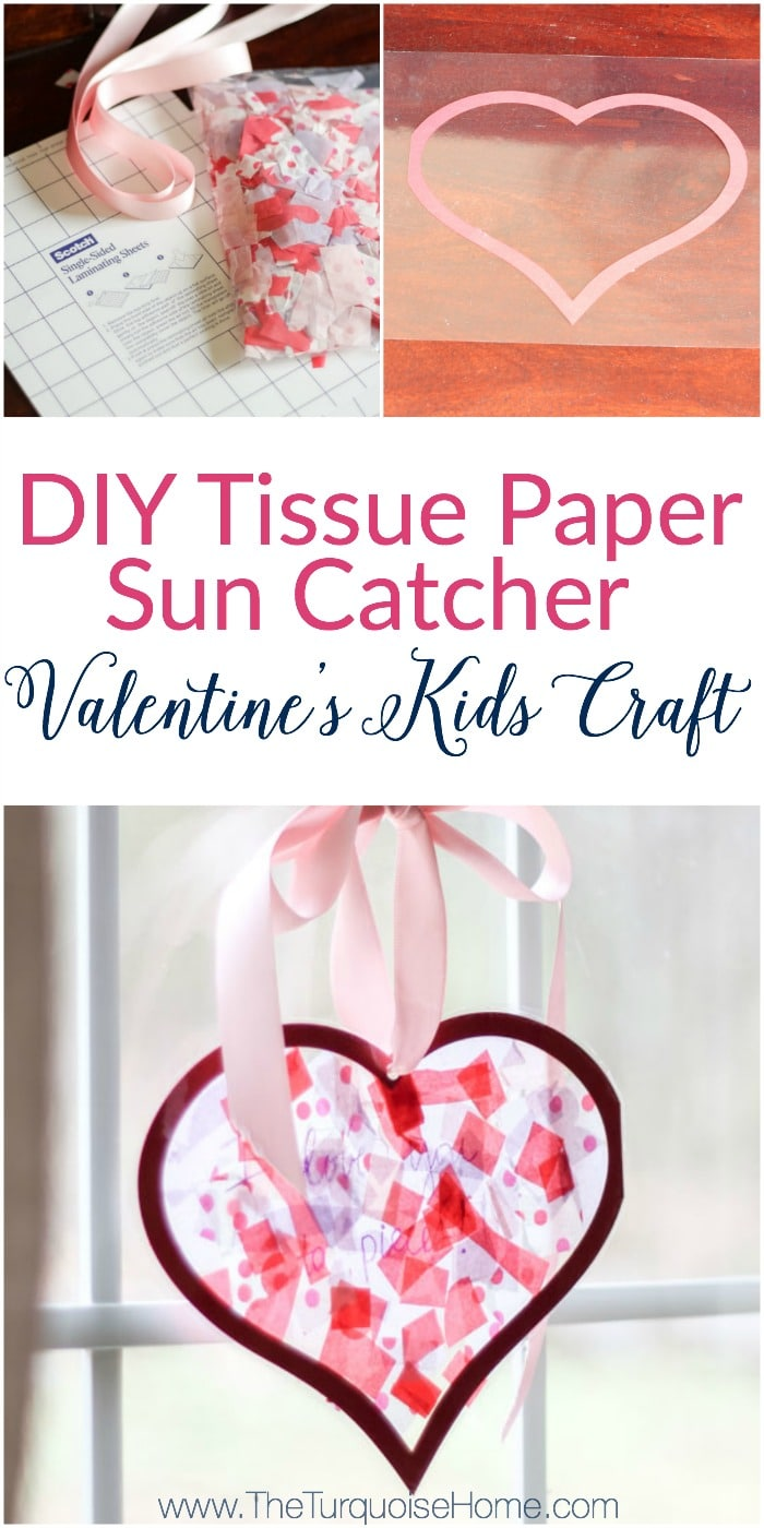 Tissue paper stained glass valentines kid craft the turquoise home we used this in my daughters kindergarten class party the kids loved it jeuxipadfo Gallery