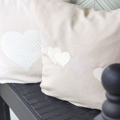 Easy DIY Heart Pillow Cover | Fabric Appliqué with a Silhouette Cameo