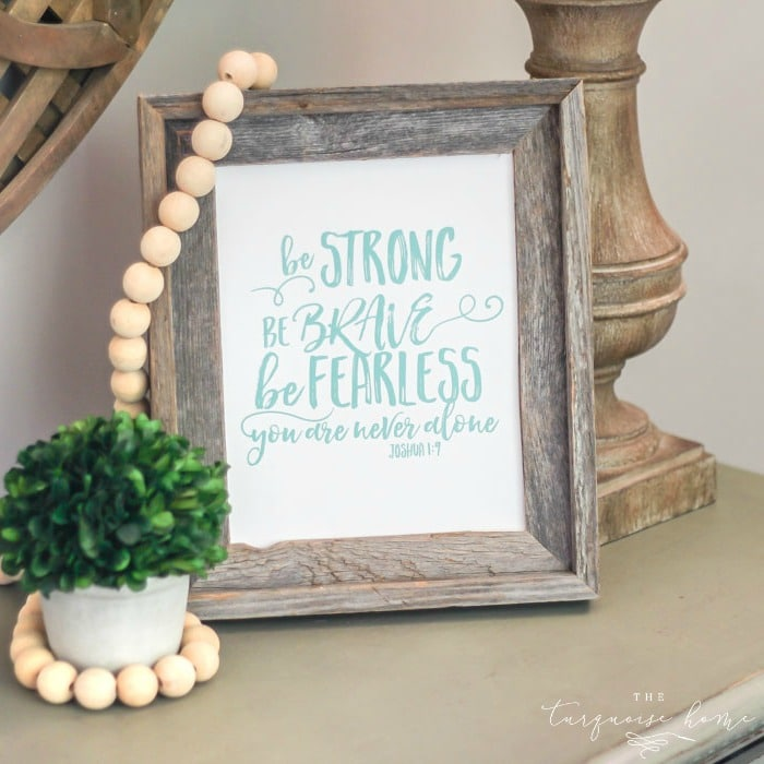 photograph relating to Braves Printable Schedule called Be Durable Be Courageous Be Fearless - an Inspirational No cost Printable