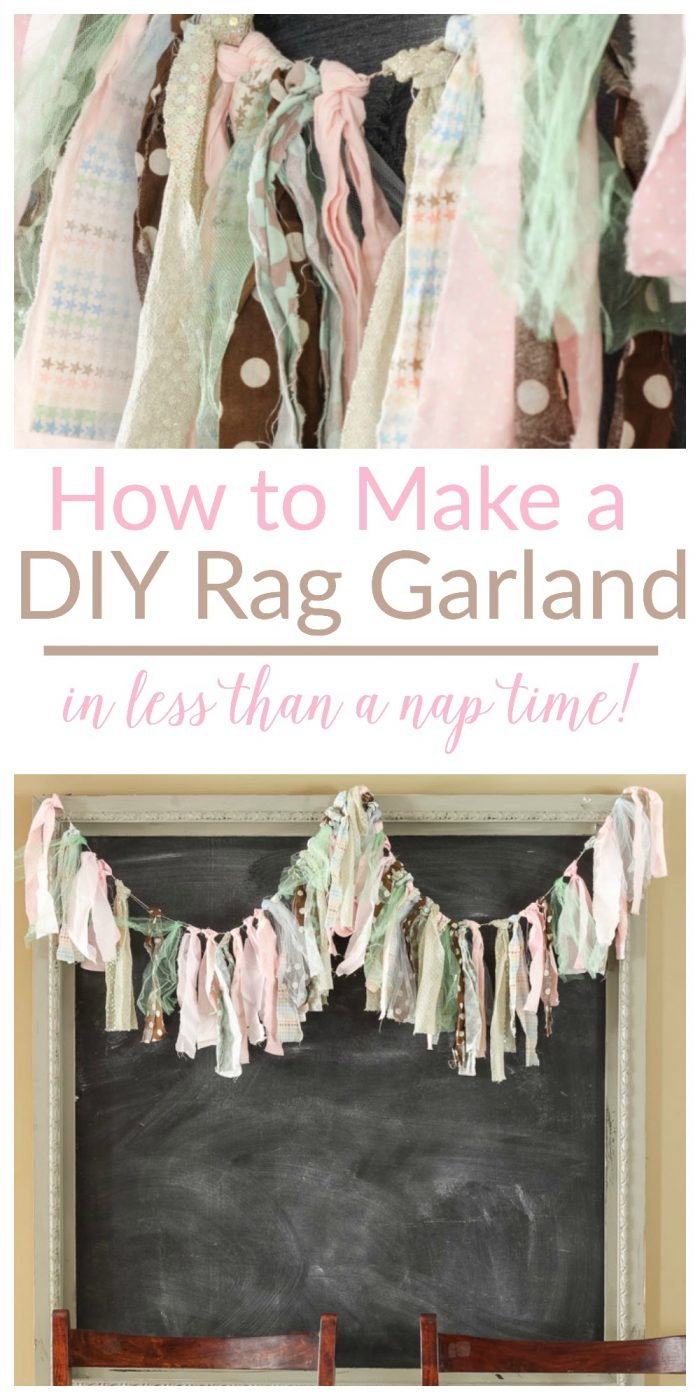 Diy Rag Garland The Turquoise Home