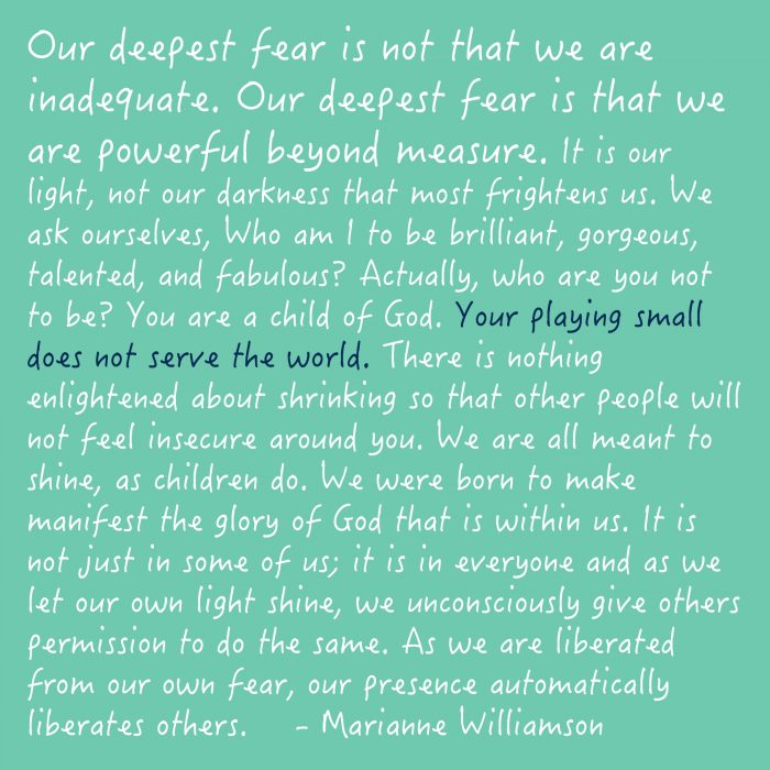 """Our Deepest Fear ..."" 