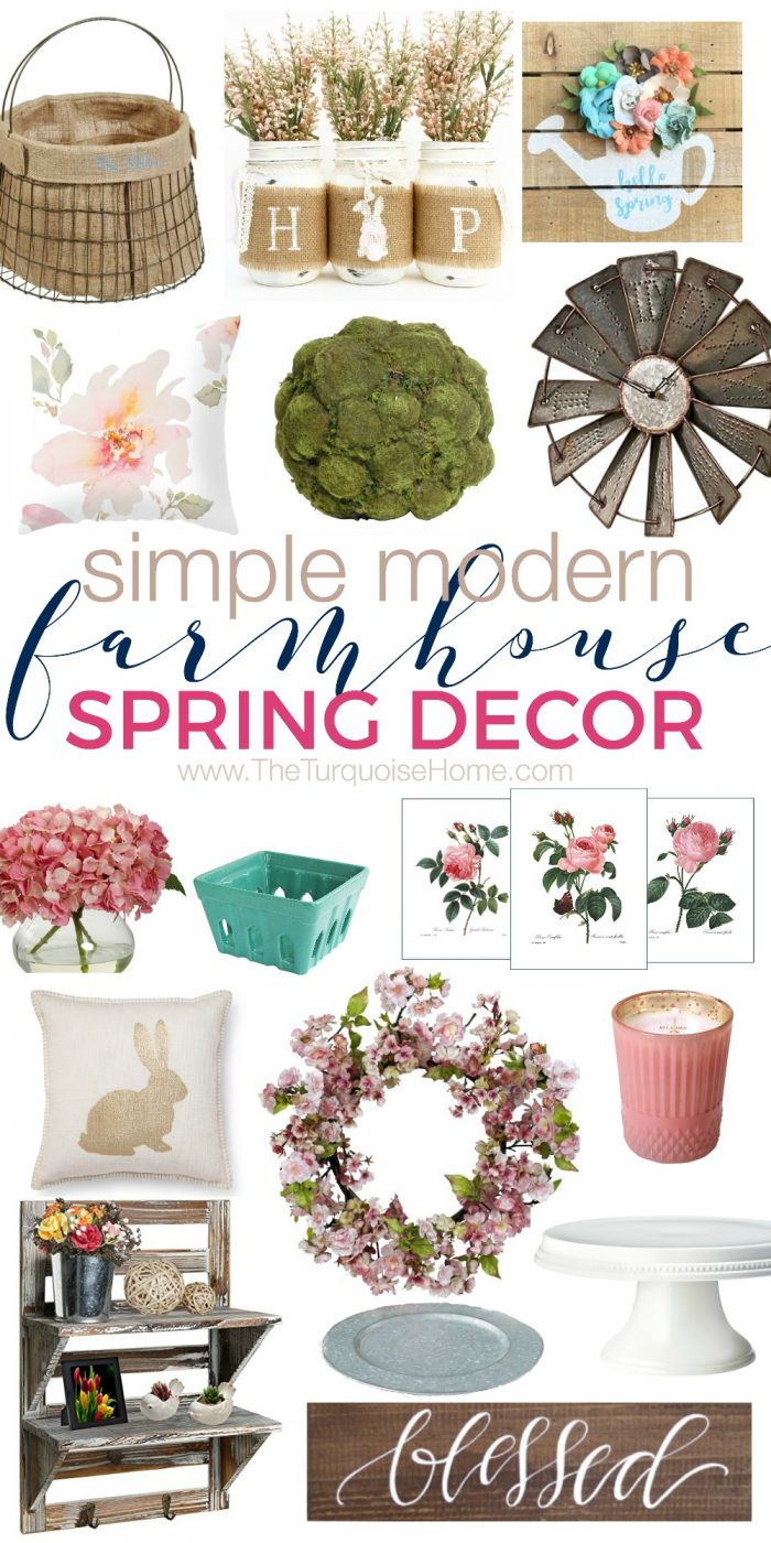 Modern Farmhouse Spring Home Decor Ideas: Simple & Modern Farmhouse Spring Decor On A Budget!