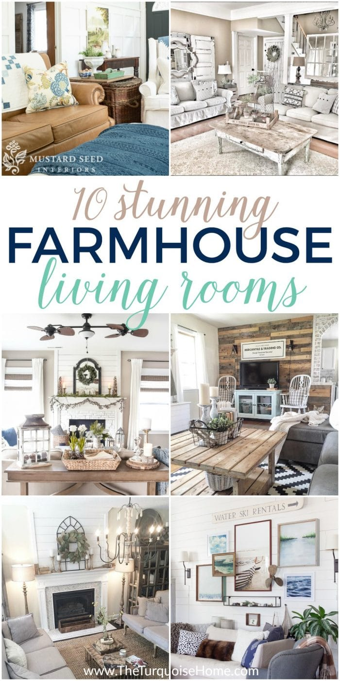 Farmhouse decor in 10 stunningly gorgeous living rooms First home decor pinterest