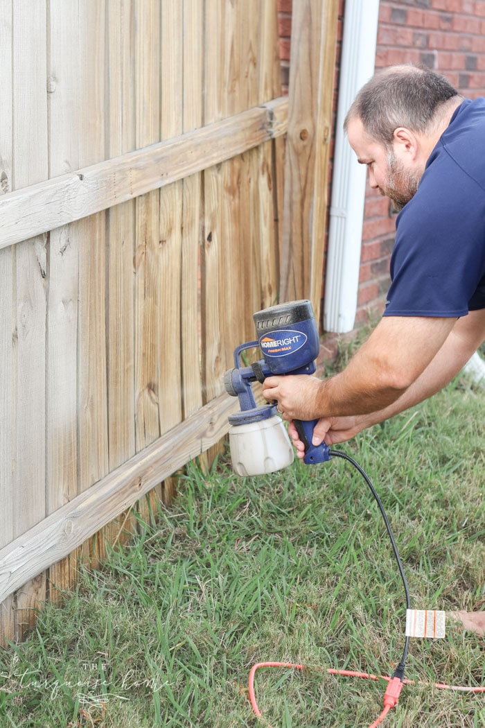 This Inexpensive Paint Sprayer Is Awesome How To A Wood Fence The Easiest