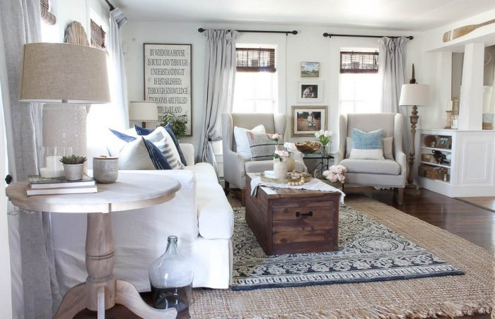A Layered, Farmhouse Living Room from Rooms for Rent | 10 Stunning Farmhouse Living Rooms