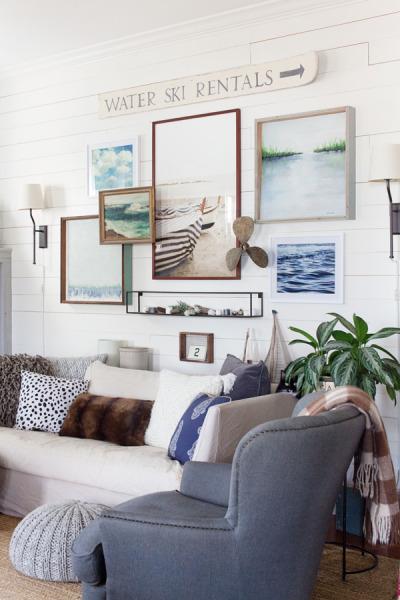 Farmhouse Living Room Gallery Wall