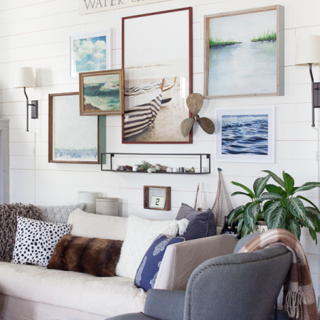 Farmhouse Living Room Gallery Wall