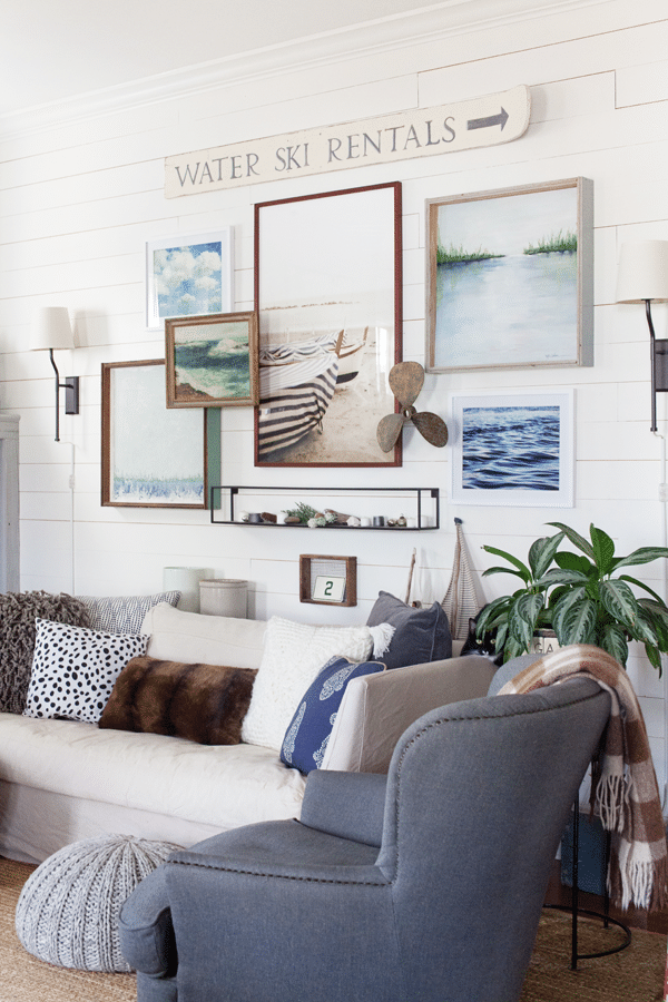 A Coastal Farmhouse Living Room From The Lettered Cottage