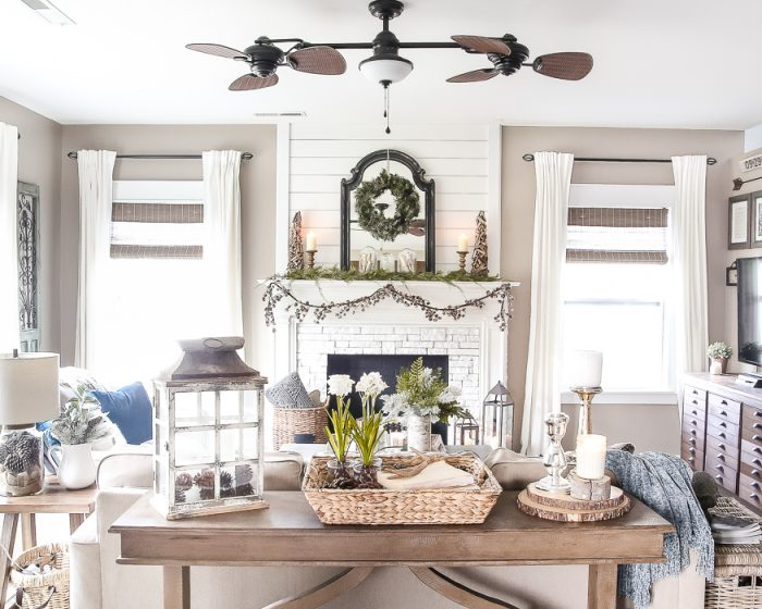 A Pretty Farmhouse Living Room from Bless'er House | 10 Stunning Farmhouse  Living Rooms