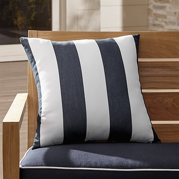 Cabana Striped Navy Sunbrella Pillows