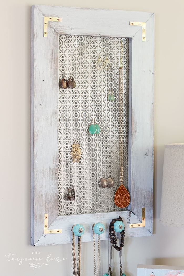 A Distressed Industrial Diy Jewelry Organizer The