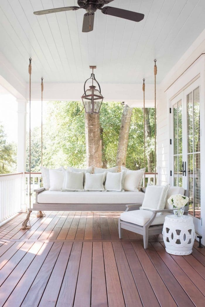 I'm dreaming of napping outside on a beautiful southern day. The peaceful blue ceiling, and comfy day bed are calling my name!