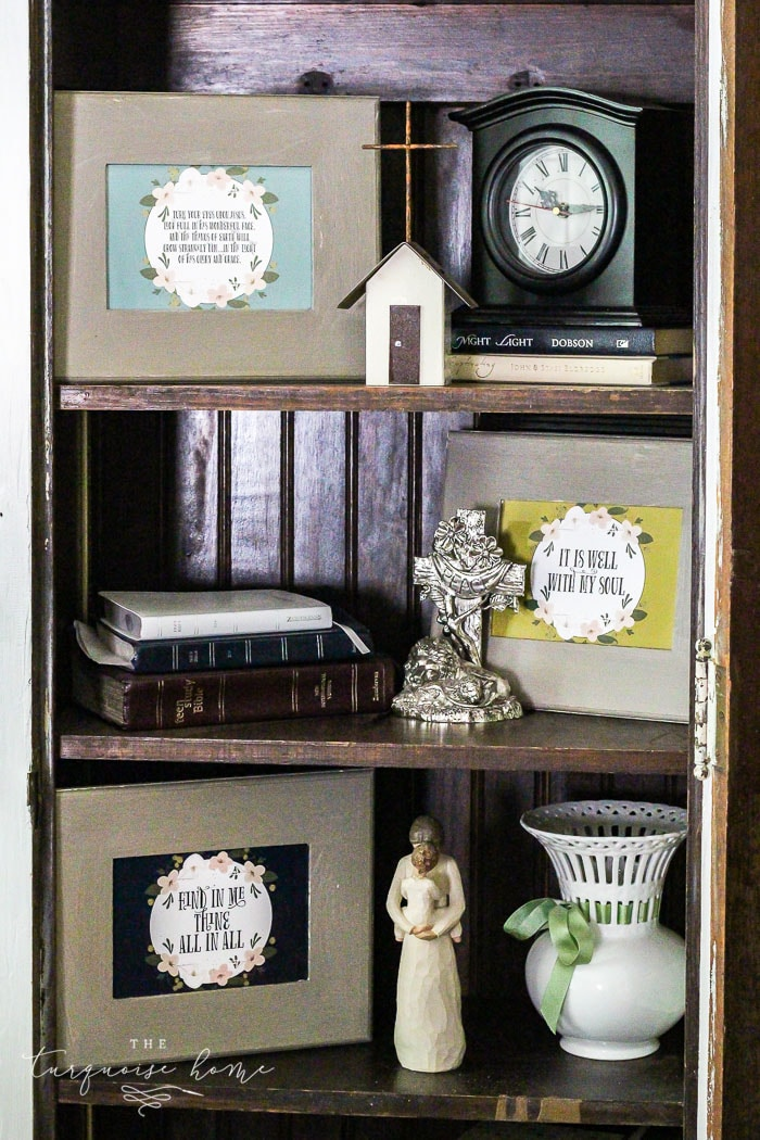 magnolia hymn cards and dollar frames a super cute inexpensive way to add some - Dollar Frames