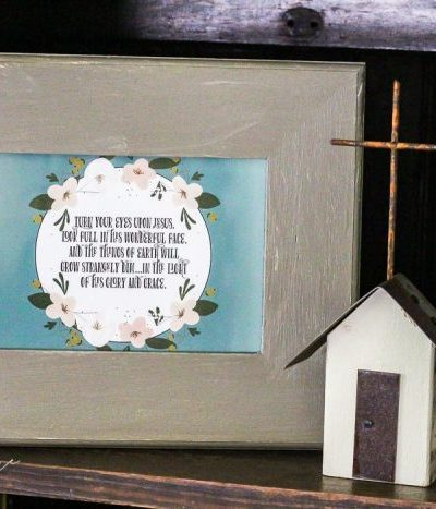 Magnolia Hymn Cards and Dollar Frames - a super cute, inexpensive way to add some art to your room!