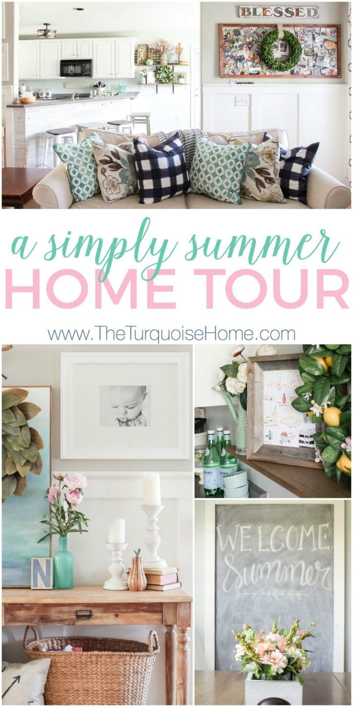 Simply gorgeous navy and turquoise in this summer home tour. Inspiration to create a home you love! | My Summer House