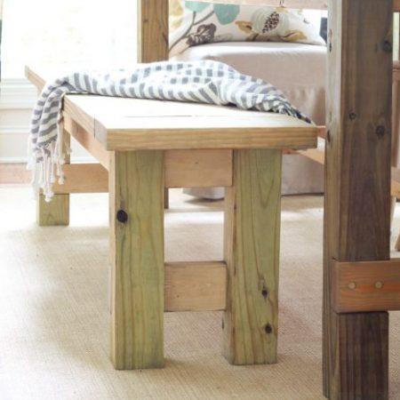 DIY Farmhouse Bench for less than $40!