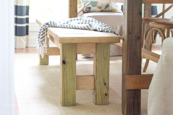 Wondrous Diy Farmhouse Bench For Less Than 40 The Turquoise Home Dailytribune Chair Design For Home Dailytribuneorg