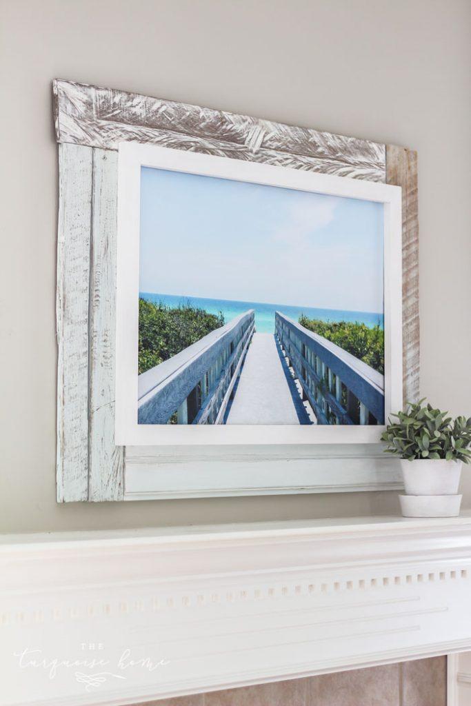DIY Framed Canvas Wall Art