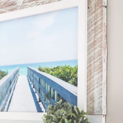 Beach-Inspired DIY Framed Canvas Art