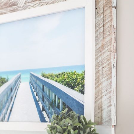 Beach-Inspired DIY Framed Canvas Art