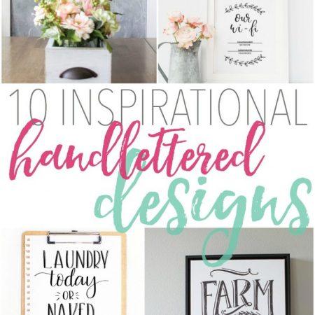 10 Inspirational Handlettered Designs