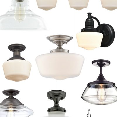 Love this quick and easy update! Add old house charm with affordable schoolhouse lighting!