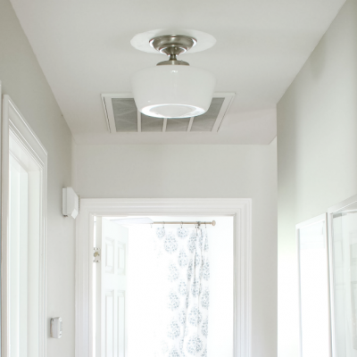Adding Old House Charm with Affordable Schoolhouse Lighting